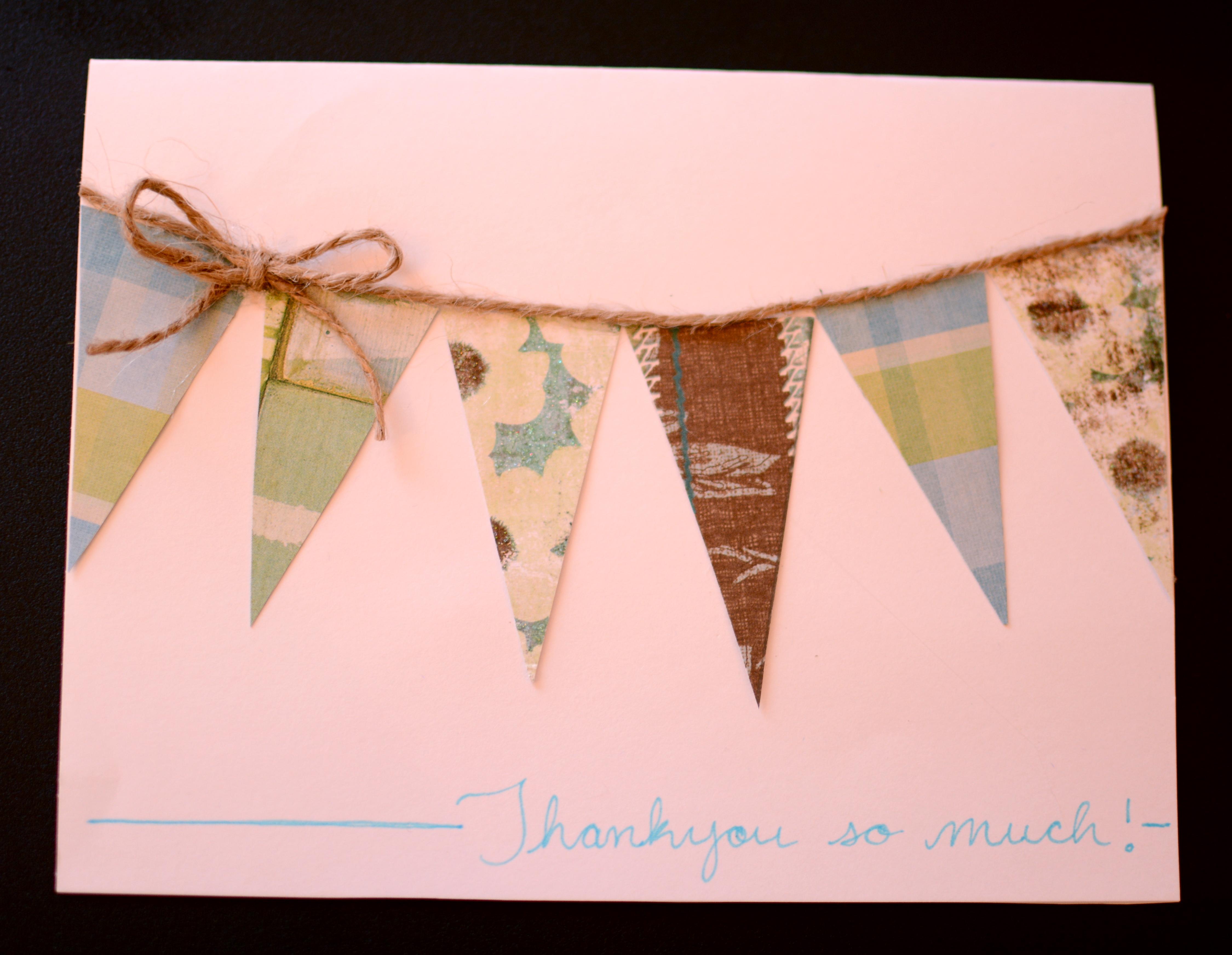 Easy Diy Thank You Card Ideas Delightfully Domestic
